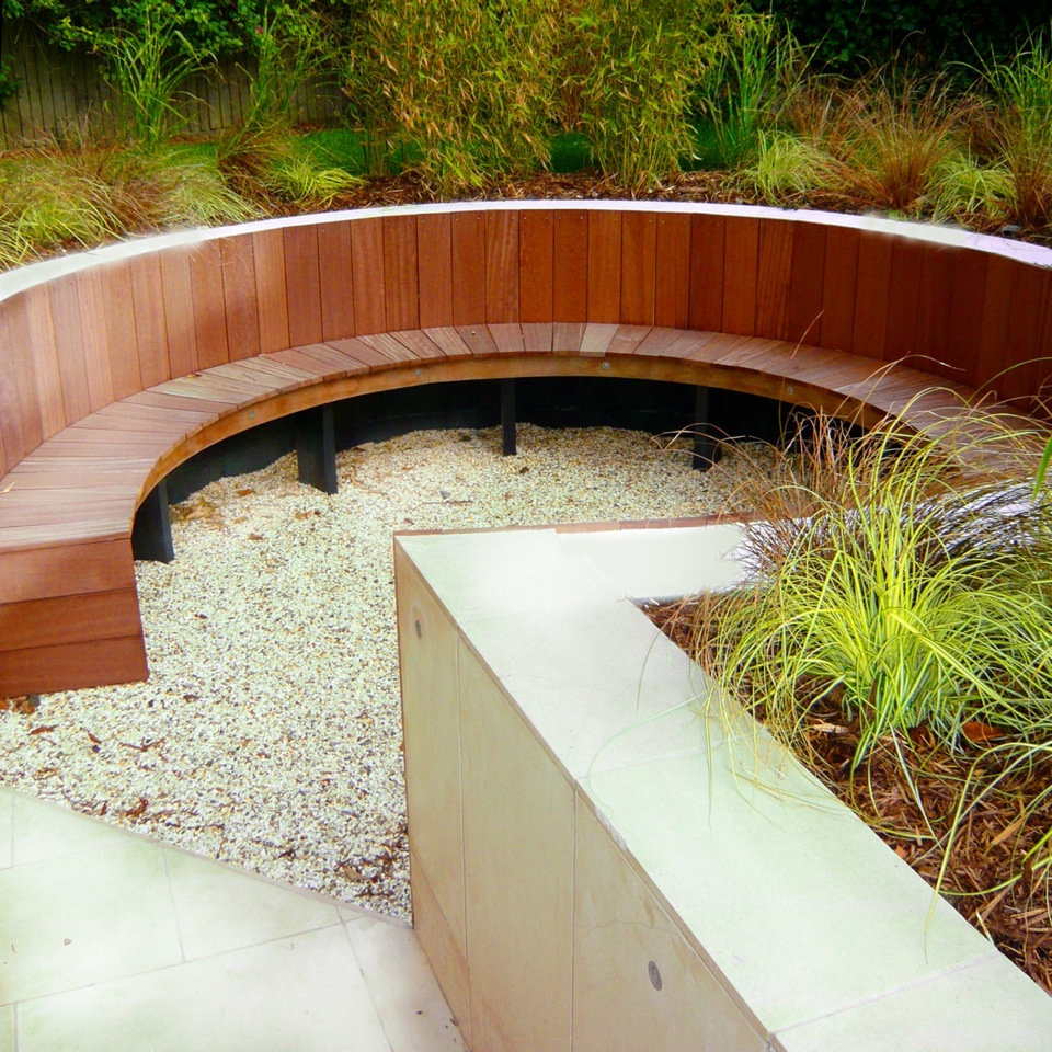 Oxfordshire ecoscape for Create sunken seating area